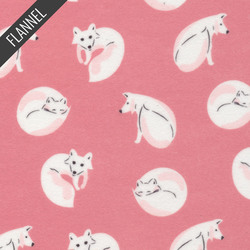 Winter Fox in Pink