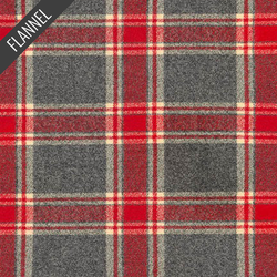 Mammoth Oblong Plaid Fannel in Red