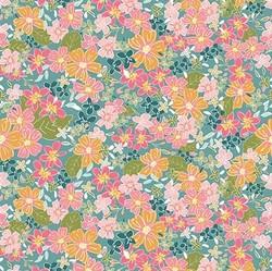 Floral in Teal