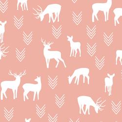 Deer Silhouette in Peony