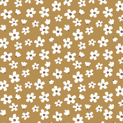 Large Daisy Garden in Toffee