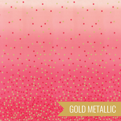 Ombre Confetti Metallic in Hot Pink