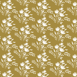 Etched Floral in Dark Citron
