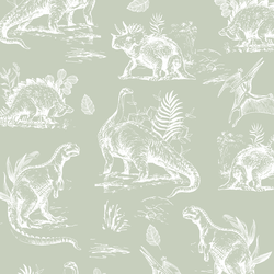 Dinosaurs in Succulent Green