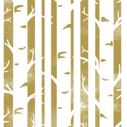 Big Birches in Gold
