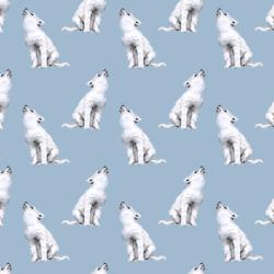 Little Arctic Wolf in Winter Blue