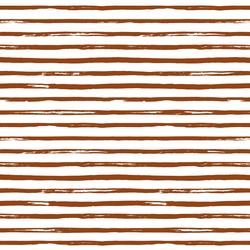 Watercolor Stripes in Cinnamon