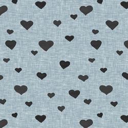Dark Heart in Chambray Linen