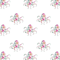 Floral Octopus in Pink