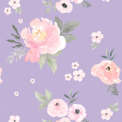Sweet Blush Roses in Lilac