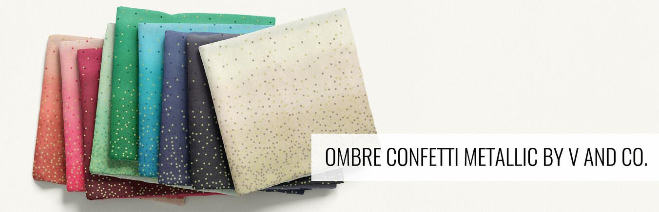 Ombre Confetti Metallic