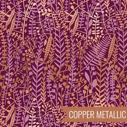Floral Tapis in Metallic Purple Velvet