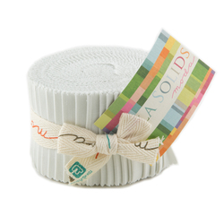 Bella Solids Junior Jelly Roll in Feather