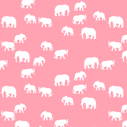 Elephant Silhouette in Rose Pink