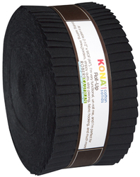 Kona Cotton Solids Roll Up in Black