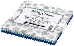 Holiday Charms Charm Squares in Blue Colorstory