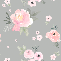 Sweet Blush Roses in Pebble