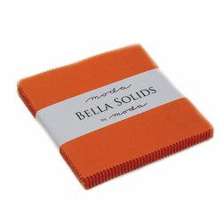 Bella Solids Charm Pack in Orange