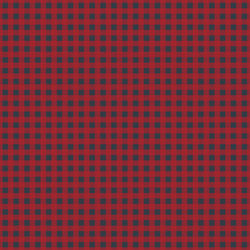 Small Holiday Gingham in Berry Red on Inkwell
