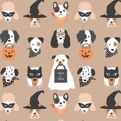 Halloween Pups in Autumn Brown