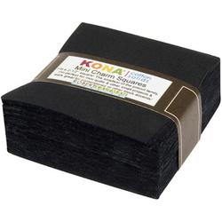 """Kona Solid 2.5"""" Square Pack in Black"""
