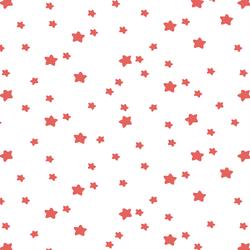 Star Light in Salmon on White