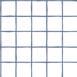 Windowpane in Azurite on White