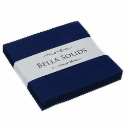 Bella Solids Charm Pack in Royal Blue