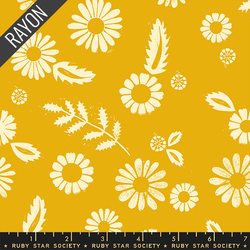 Daisy Rayon in Goldenrod