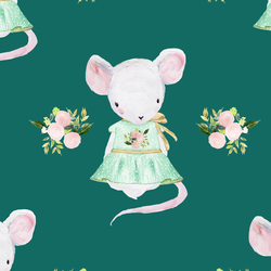 Lila the Mouse in Emerald