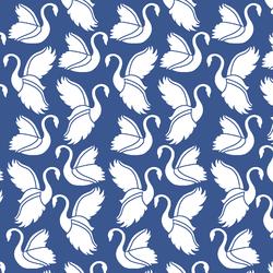 Swan Silhouette in Blue Jay