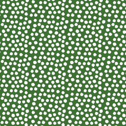 Painted Dot in White on Green Apple