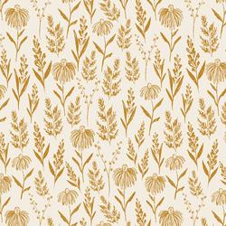 Perennials in Golden on Cream