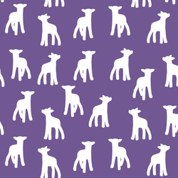 Lamb Silhouette in Ultra Violet