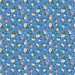Harbour Florals in Bright Blue
