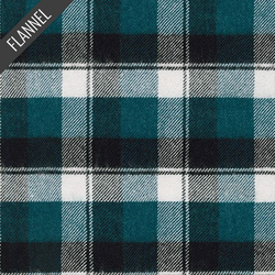 Heavy Plaid Flannel in Teal