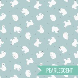 Polar Bears in Arctic Blue Pearl