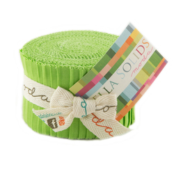 Bella Solids Junior Jelly Roll in Lime