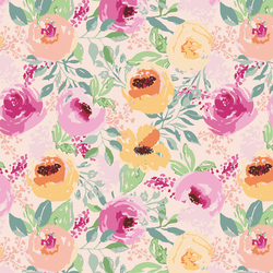 Berry Floral in Whisper Pink