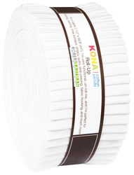 Kona Cotton Solids Roll Up in White