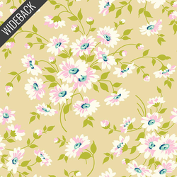 Dream Floral Backing in Sand