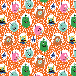 Little Monsters Dot in Orange