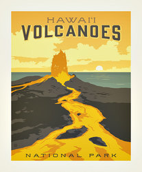 Poster Panel in Hawaii Volcanoes