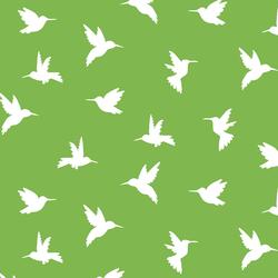 Hummingbird Silhouette in Greenery