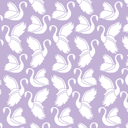 Swan Silhouette in Lilac