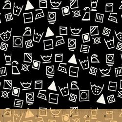 Washing Symbols in Black