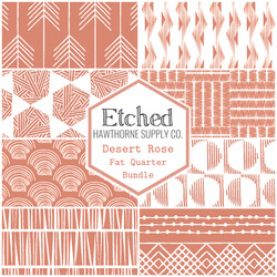 Etched Fat Quarter Bundle in Desert Rose