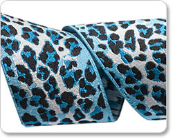 Wide Ombre Leopard in Blue and Navy