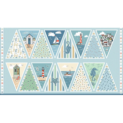 Beachcomber Bunting Panel in Blue