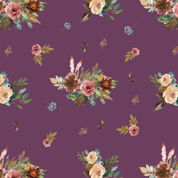Fall Floral in Plum